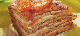 Блинчатый пирог с яблоками