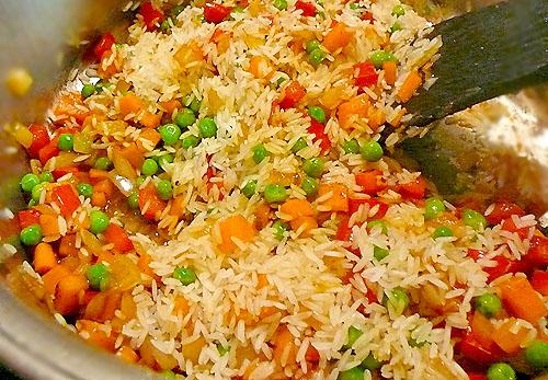 рис как в Китайский овощами ресторане рецепт с