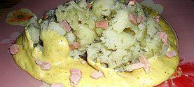 Цветная капуста в сливочно-банановом соусе
