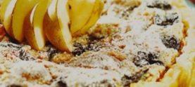 Творожный торт с грушами