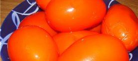 Соленые помидоры с горчицей