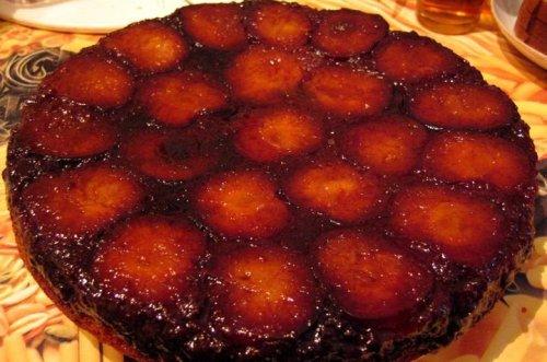 Пирог сливовый перевертыш рецепт