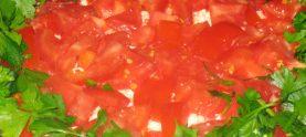Салат с крекерами
