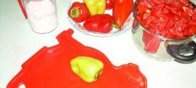 Мясной салат с лечо