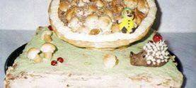 Торт «Корзинка» из заварного теста