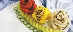 «Розы» из редьки