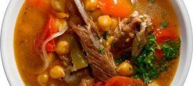 Суп гороховый с алычой