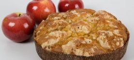 Пирог с яблоками в сливочном соусе