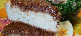 Медовый пирог с творогом