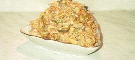 Мясной салат с морковью