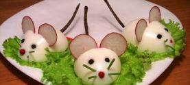 Фаршированные яйца «Крысята»